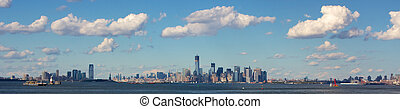 New York City Panorama - Panoramic view of the NYC skyline...