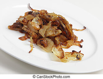 Caramelised onion - Slices of onion that have been...