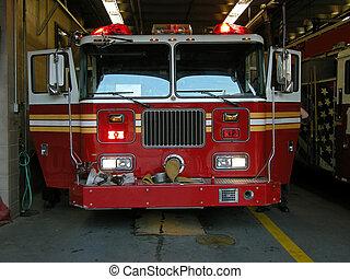 firetruck - empty american firetruck, photo taken in new...