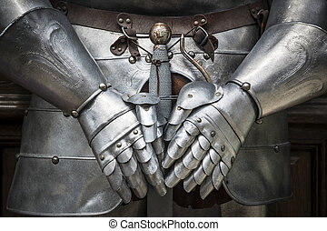 Detail knight armor - Detail of a knight armor with sword