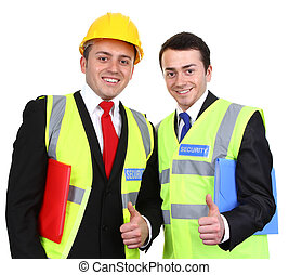 Working men - Two workers standing next to each other.