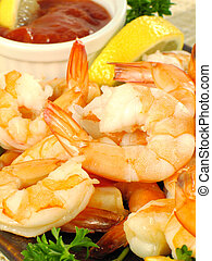 Shrimp Cocktail Platter - Chilled shrimp served with...