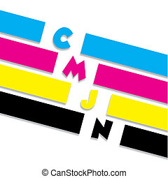 Conceptual CMYK illustration