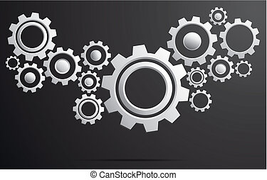 Gear system vector illustration