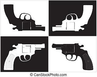 Pistol Revolver Vector