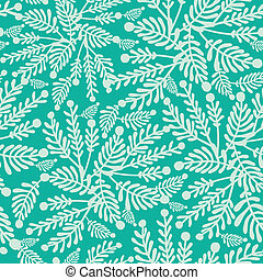 Emerald green plants seamless pattern background - Vector...