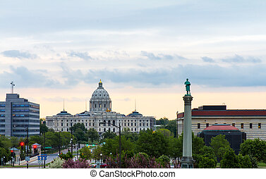 Minnesota State Capitol Building View From Cathedral of...
