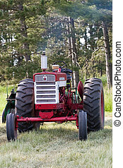 Red Old Vintage Tractor