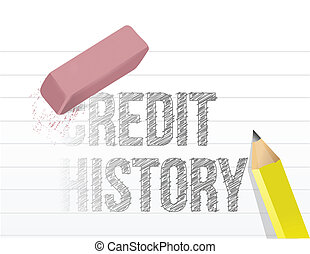 erasing your credit history concept illustration design over...