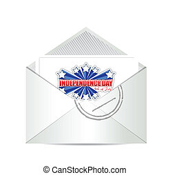 fourth of july, independence day card
