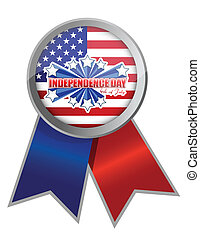 fourth of july, independence day ribbon