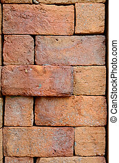 parede, tijolo, textura, fundo