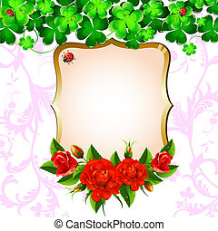 Background with roses and clove - Background with red roses...