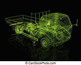 3d truck - 3d truck
