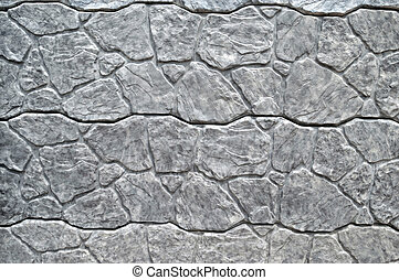 gray background of artificial stone