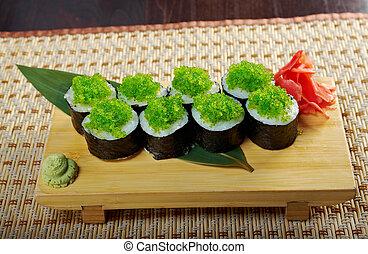 Tobiko (flying fish roe) Gunkan Maki Sushi