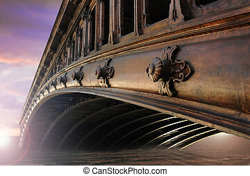 Old bridge in Paris