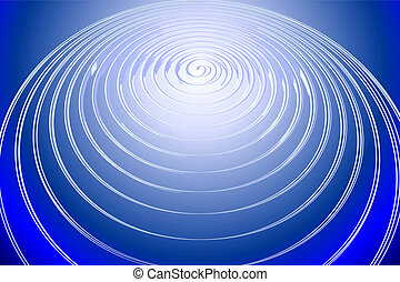 Circle light waves - Information light-sounds waves in space...