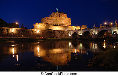 Castel Sant\\\'Angelo castle in Rome, Italy