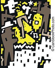 jazz band - abstract vector illustration
