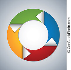 Circle web design element - Circle element with bent corners...