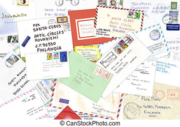 Letters to Santa Claus from all over the world