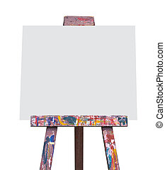 Easel isolated