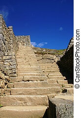 Stairway to the Gods - View up a set of stairs in the...