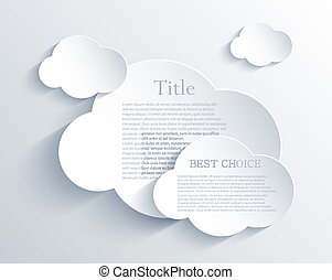 Vector cloud design element with place for your text Eps10