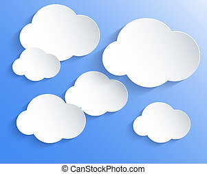 Vector cloud design element with place for your text. Eps10