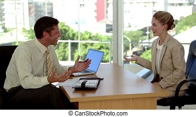Business people making a appointment with a datebook
