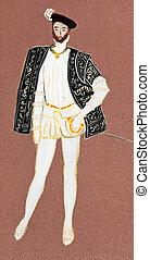 full dress French count - historical costume - full dress...