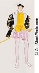 full dress costume French prince - historical costume - full...