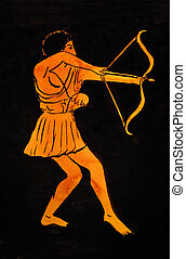 ancient Greek archer - historical costume - ancient Greek...