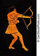 Grec, Ancien,  archer