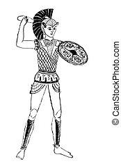 Etruscan warrior - historical costume - Etruscan warrior...
