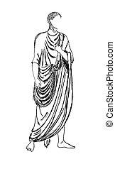 antiga, romana, imperador