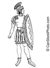 Ancient Rome Pretorian warrior - historical costume -...