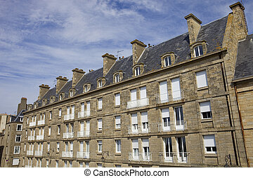 st malo houses - typical intra muros st malo houses,...