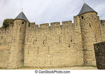 Carcassone - The ancient fortification of Carcassone in...