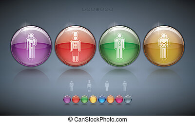 Mans occupation - Mans occupation icons - four icons to...