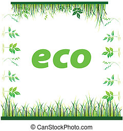 eco nature art vector illustration