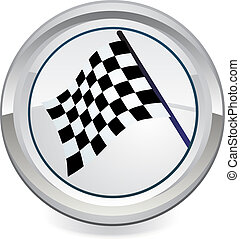 Racing Flag icon, vector