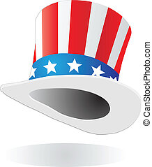 Hat with american flag theme vector illustration