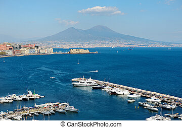 view of the sea near Naples with Vesuvius - wonderful...