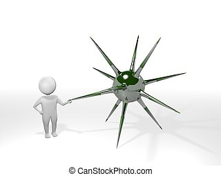 3D Man - Mine - Green (3D Object)