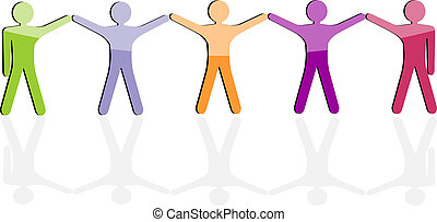 Team work icon Business seamless background, friendship...