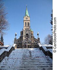 Church in Zakopane in winter.