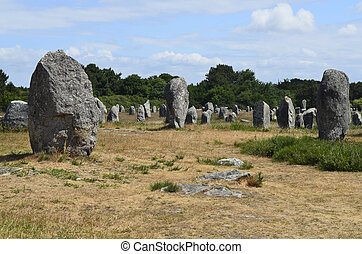 France, Carnac - megalith stones in Carnac, France