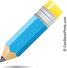 pencil - Color pencil isolated on white background...